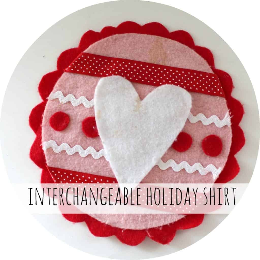 interchangeable valentines shirt