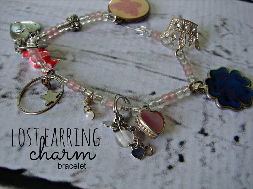 lost earring charm bracelet