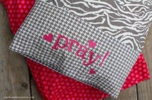 prayer pillowcase with heat transfer vinyl