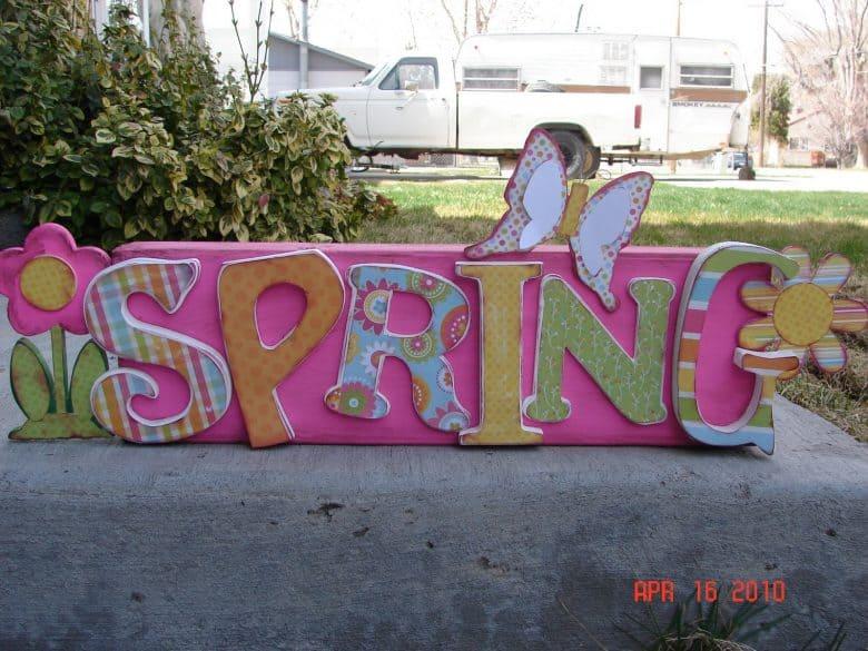 it\u0027s warm......spring blocks! - A girl and a glue gun
