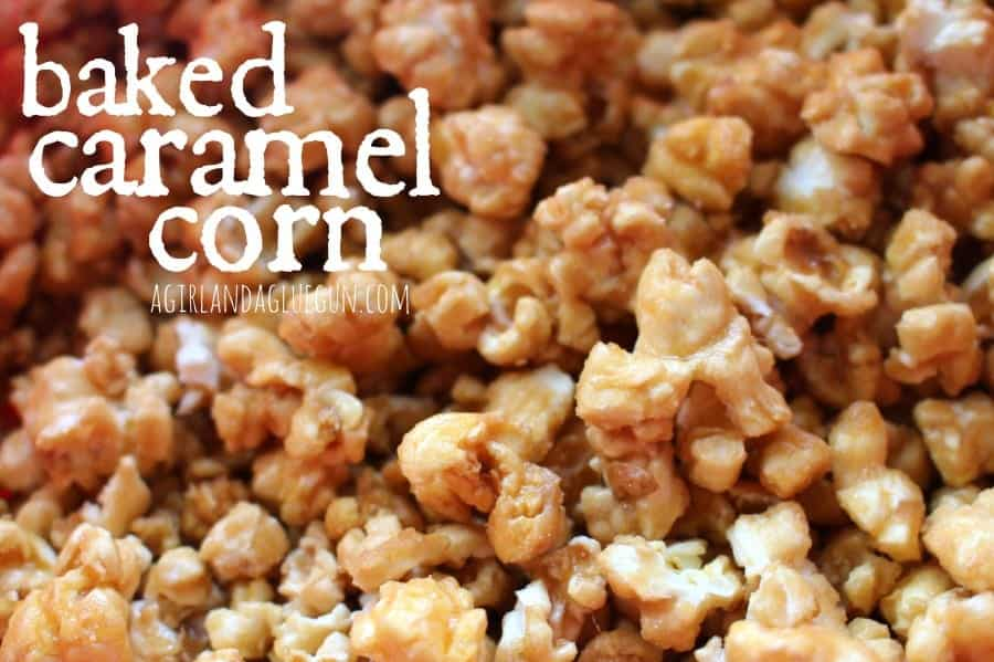 baked non sticky caramel corn!