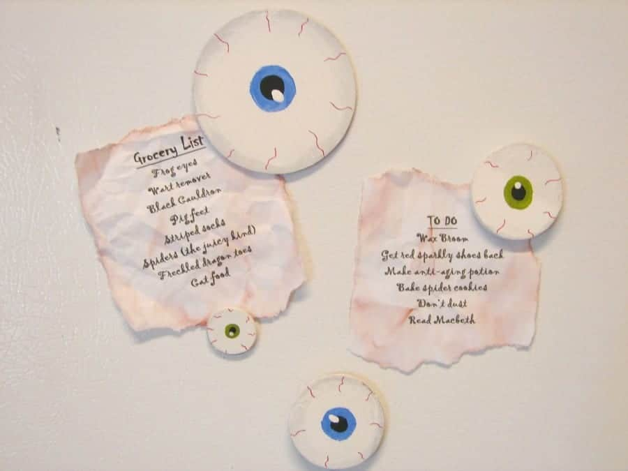 paint your own eyeball magnets