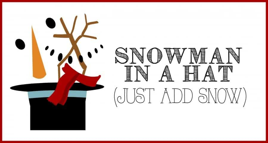 snowman in a hat printable