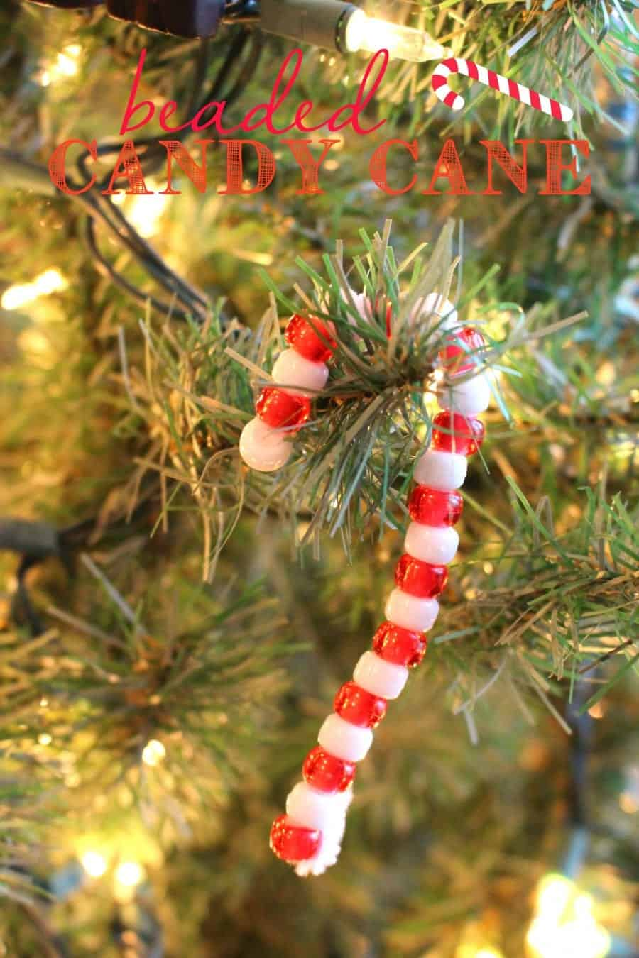 beaded candy cane kids craft