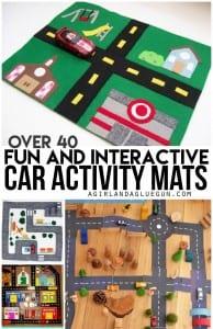 Throwback Thursday–car activity mats