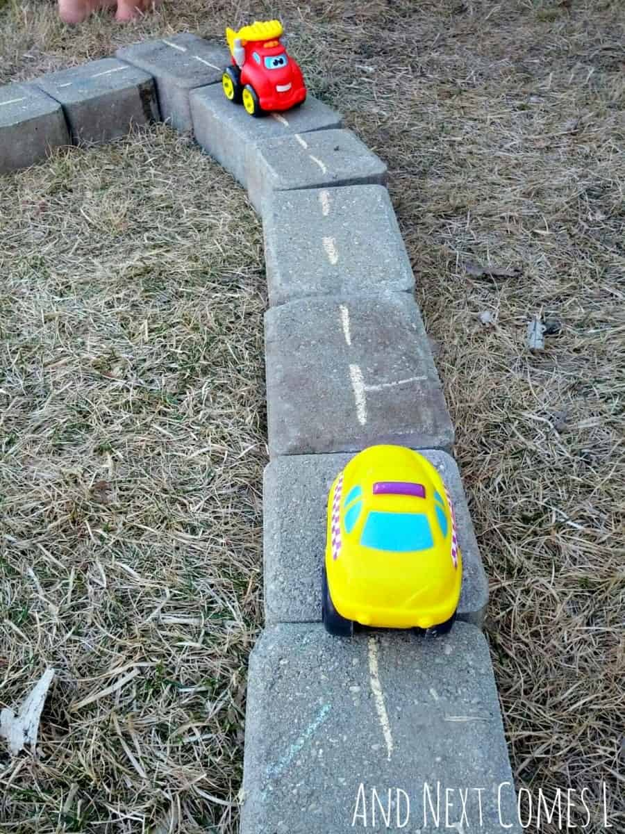 cars-on-diy-outdoor-roads