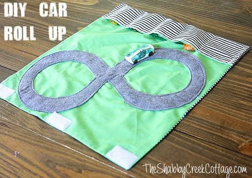 how to make a car roll up for little boy via The Shabby Creek Cottage