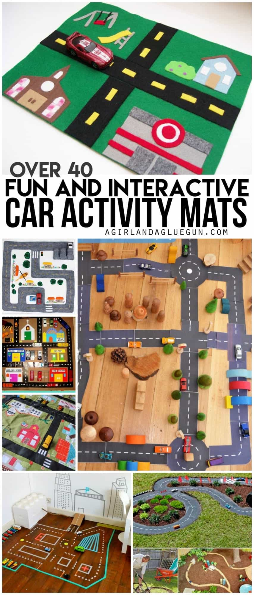 over 40 fun and interactive car activity mats --lots of awesome diy and crafts that you can make at home