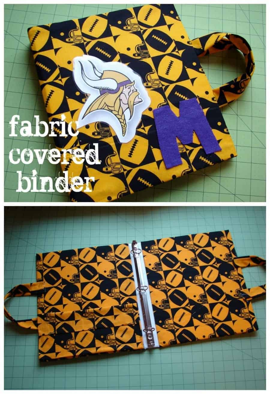 fabric covered binder