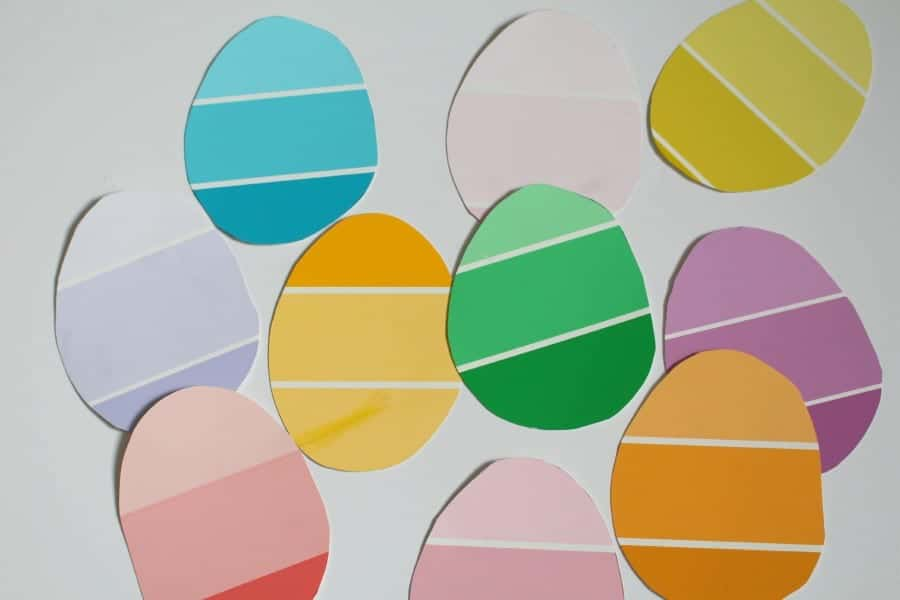 eggs from paint chips