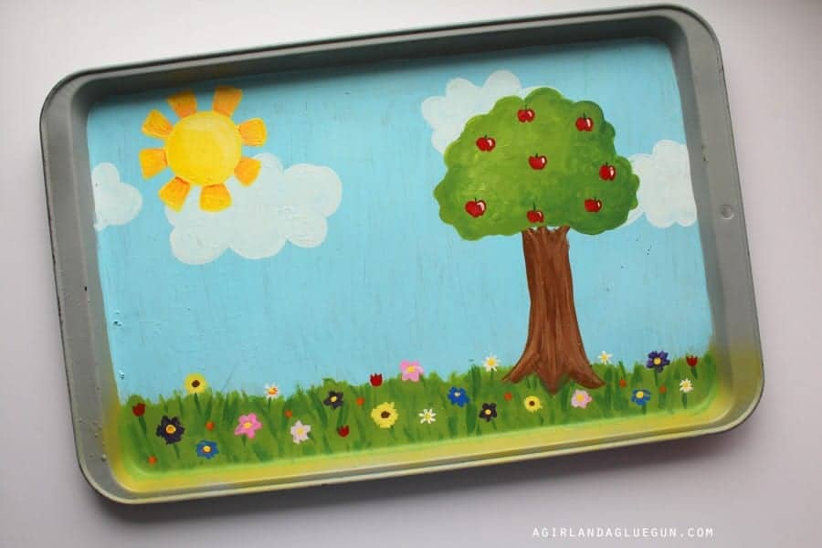 painted cookie sheet