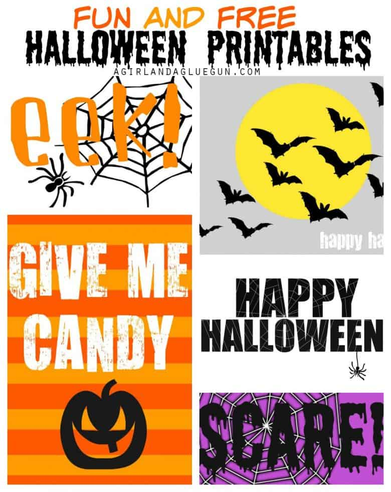 halloween printables a and a glue gun