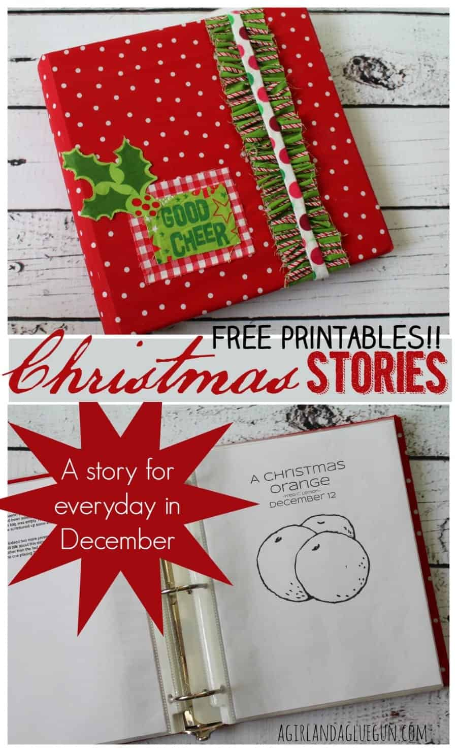 A touching christmas story...one for everyday in December free printable advent