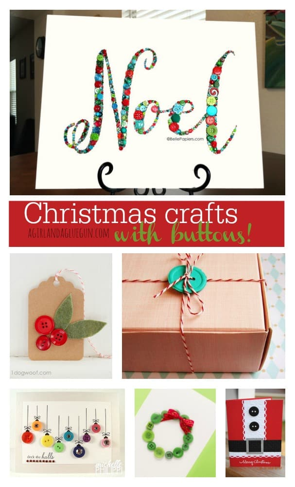 christmas crafts with buttons roundup