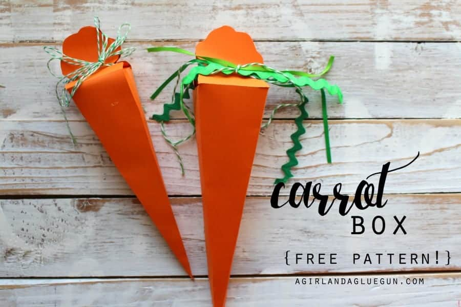 carrot box with free pattern