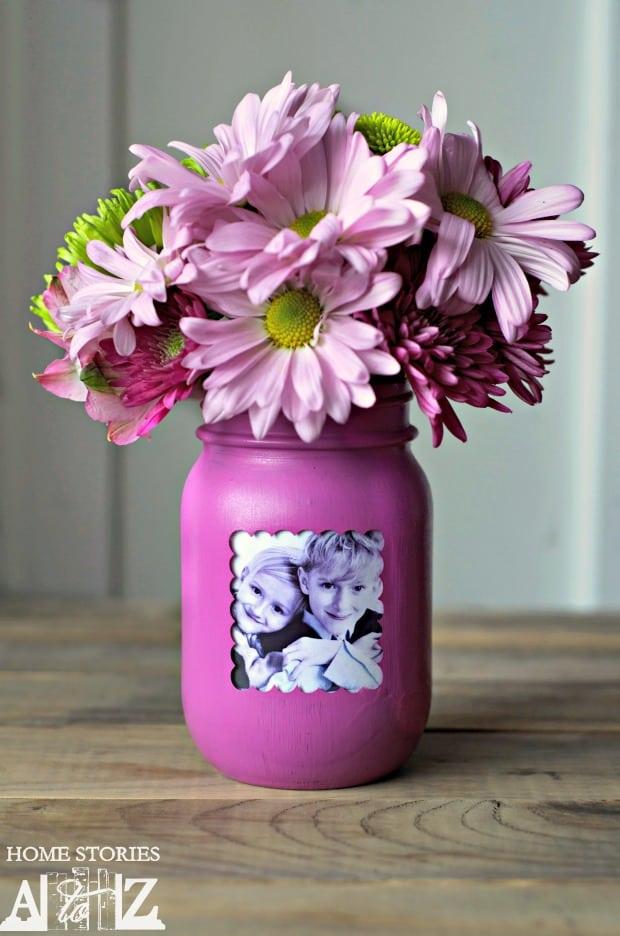 How-to-make-a-mason-jar-vase-and-frame