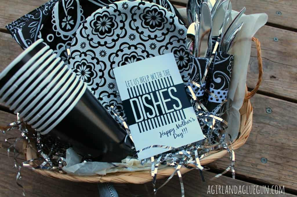 perfect gift for mother's day. do the dishes printable!