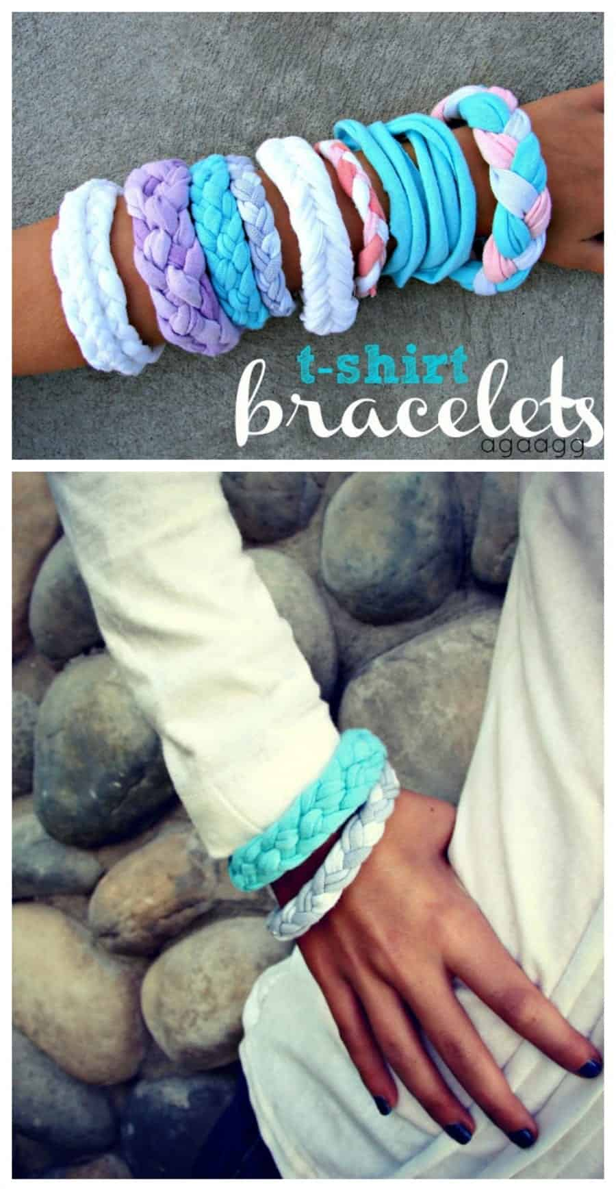t-shirt bracelets 4 different ways