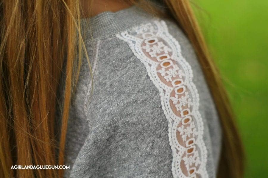 love this lace sleeve diy