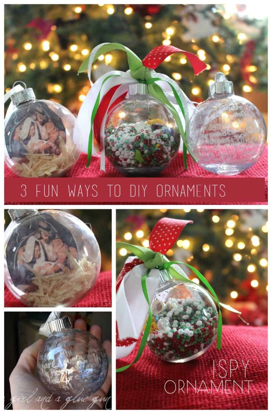 3 fun ways to diy  ornaments