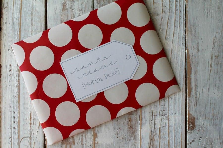 wrapping paper to make a Christmas santa letter