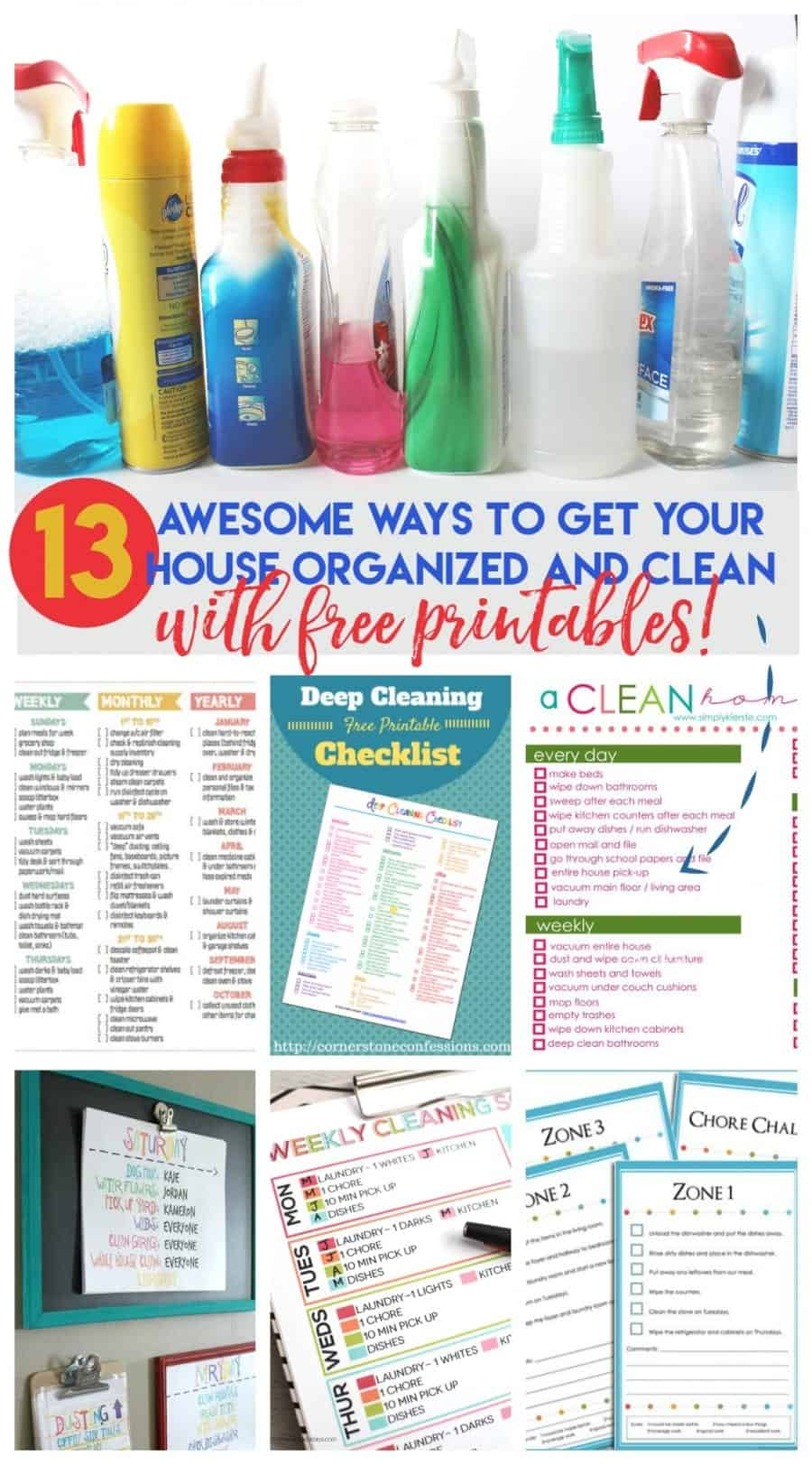 13 ways to get your house organized, clean and to make you feel like you have your crap together. (with free printables!)