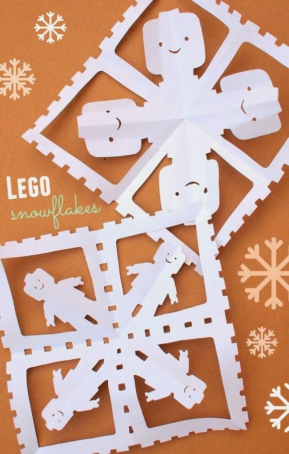 Lego snowflakes header