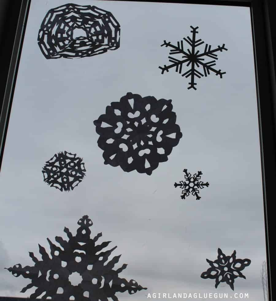 snowflakes in window