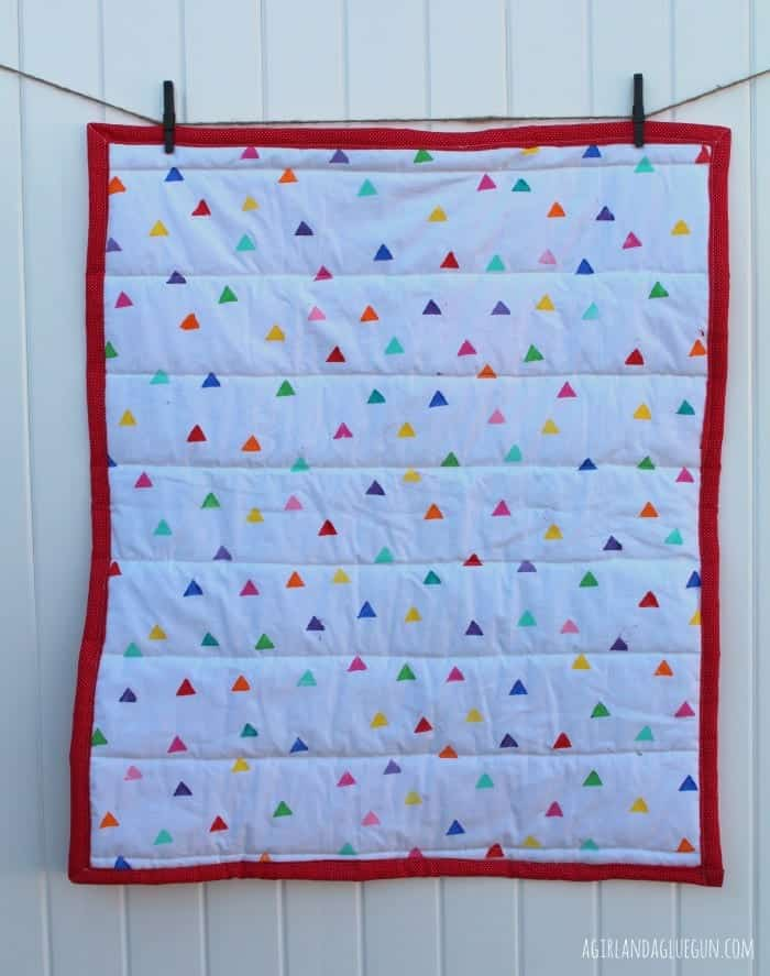 back of scrappy quilt