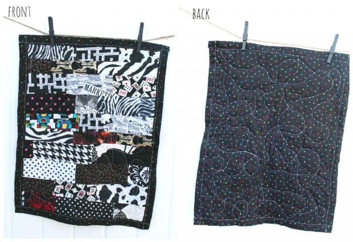 black and white scrappy quilt