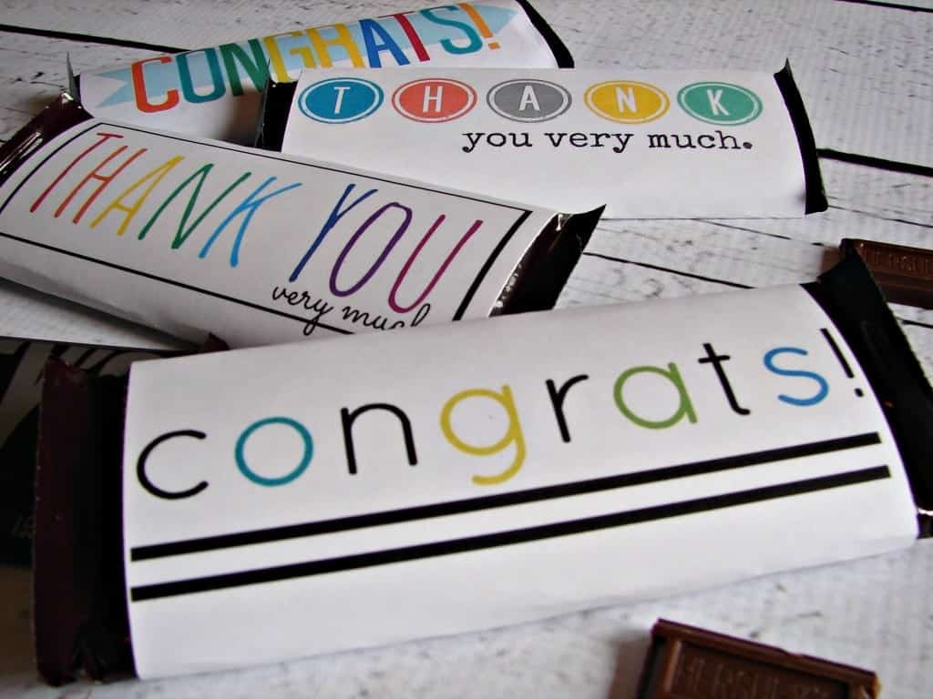 congrats free candy bar printable