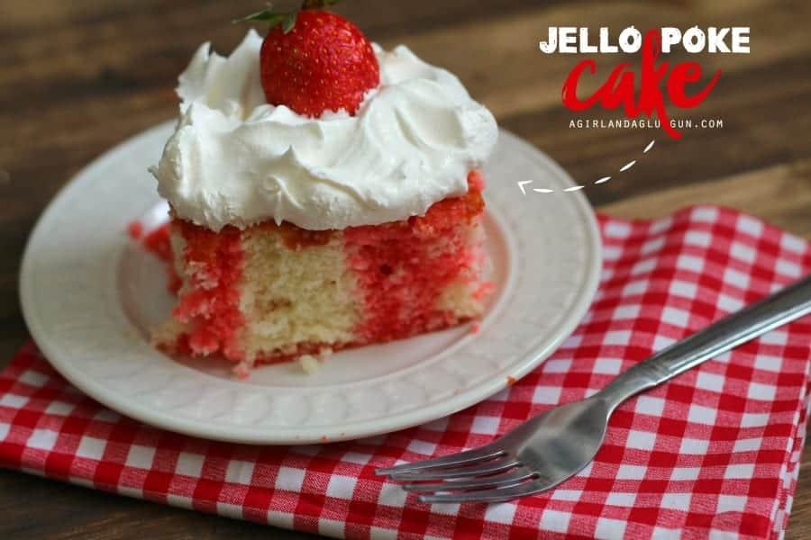 easy Jello poke cake super yummy!