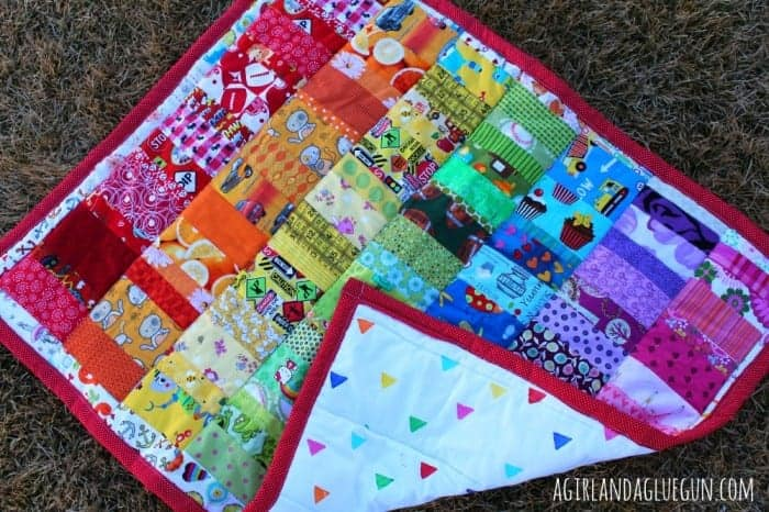 scrap fabric quilt a girl and a glue gun