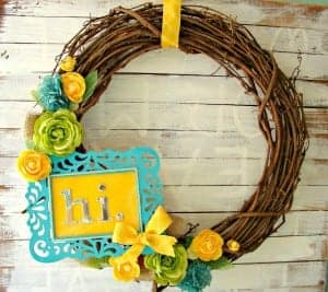 Craft it forward by Michaels–Spring Wreath