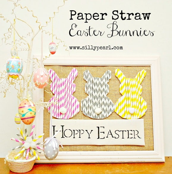 Paper Straw Easter Bunnies -- The Silly Pearl_thumb[5]