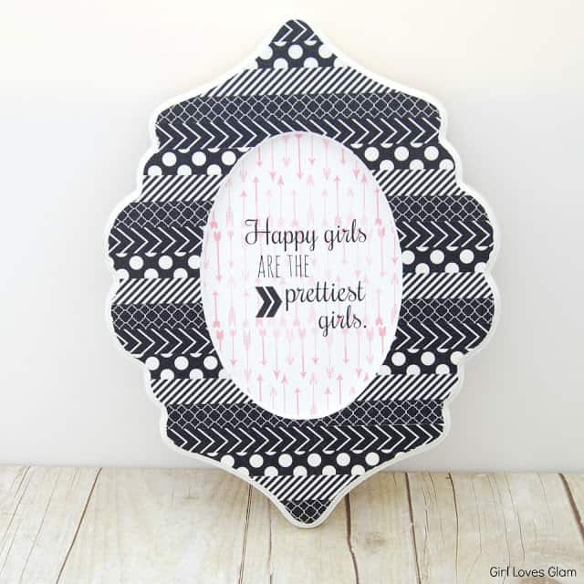 Washi Tape Oval Curvy Picture Frame
