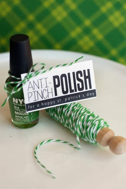 anti pinch polish tag