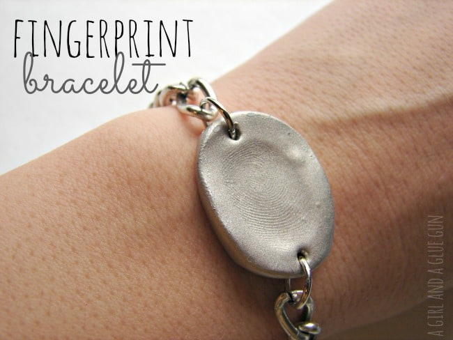 Silver Fingerprint Bracelet Or Charm Knock Off A Girl