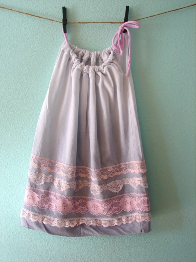 pillowcase dress with lace