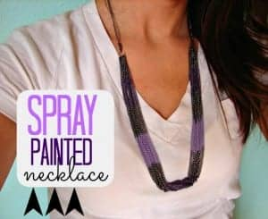 spray painted necklace