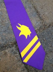 personalized tie with heat transfer vinyl