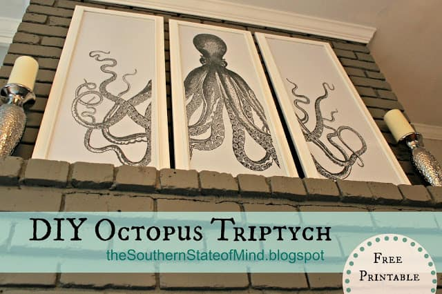 diy octopus triptych free printable logo