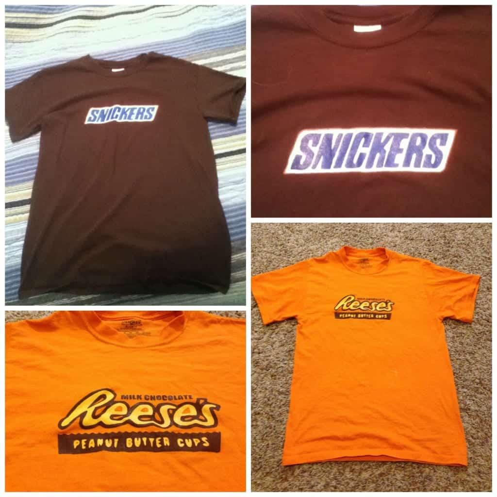 PicMonkey Collage candy bar t-shirts