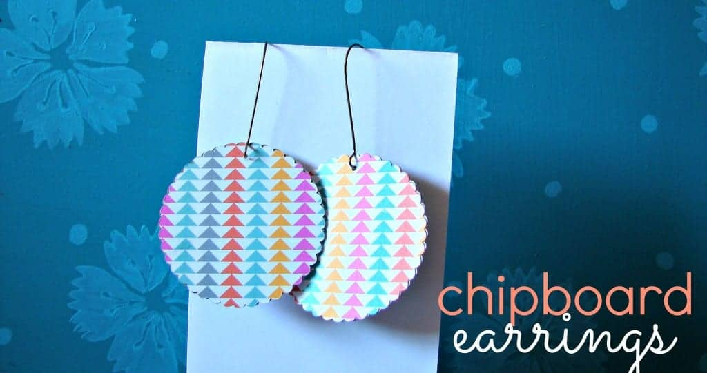 chipboard earrings