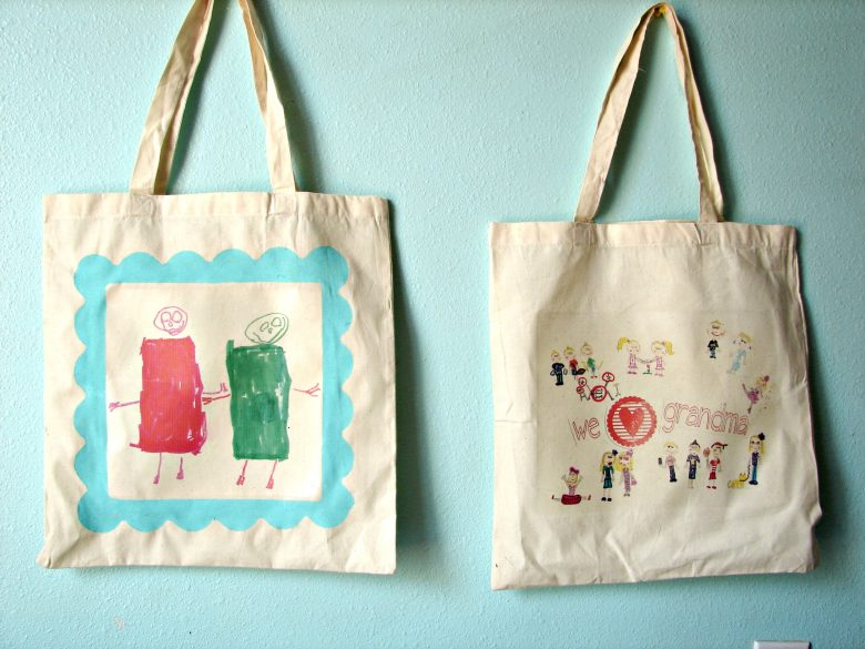 personalized tote bags....and a kid craft monday.... - A girl and ...