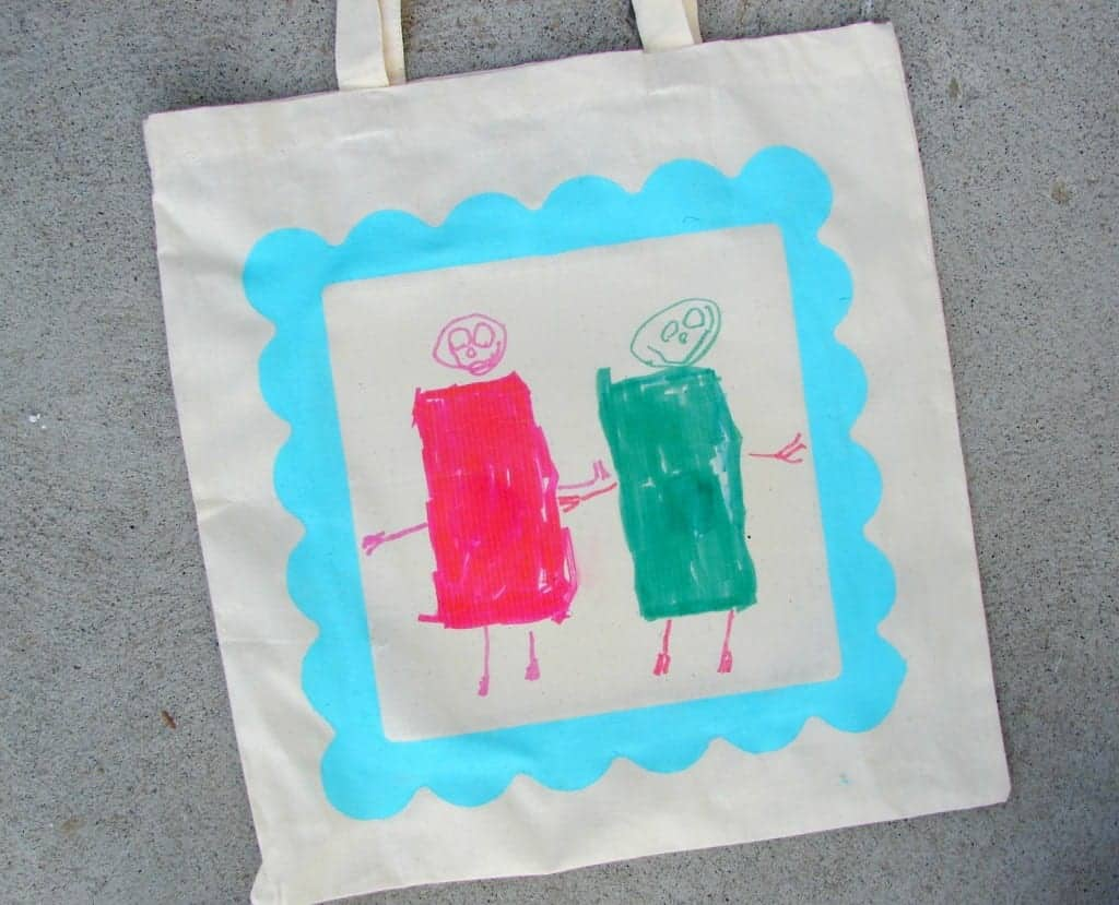 kid drawn tote