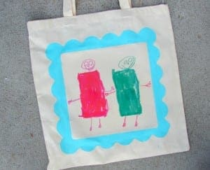 personalized tote bags….and a kid craft monday….