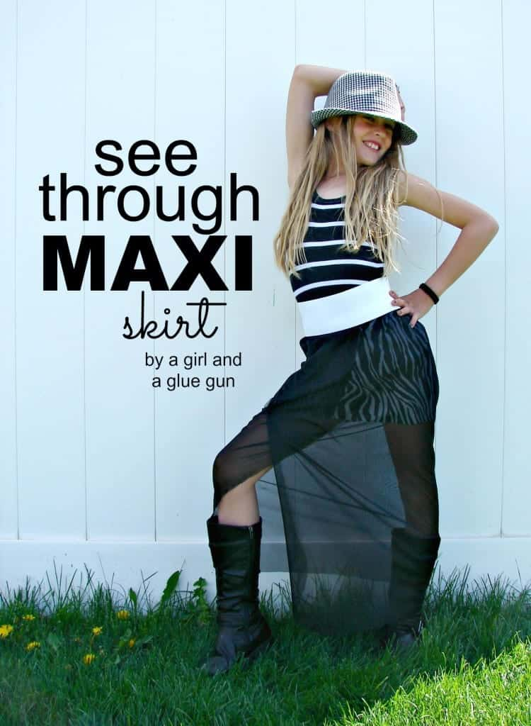 maxi see through skirt