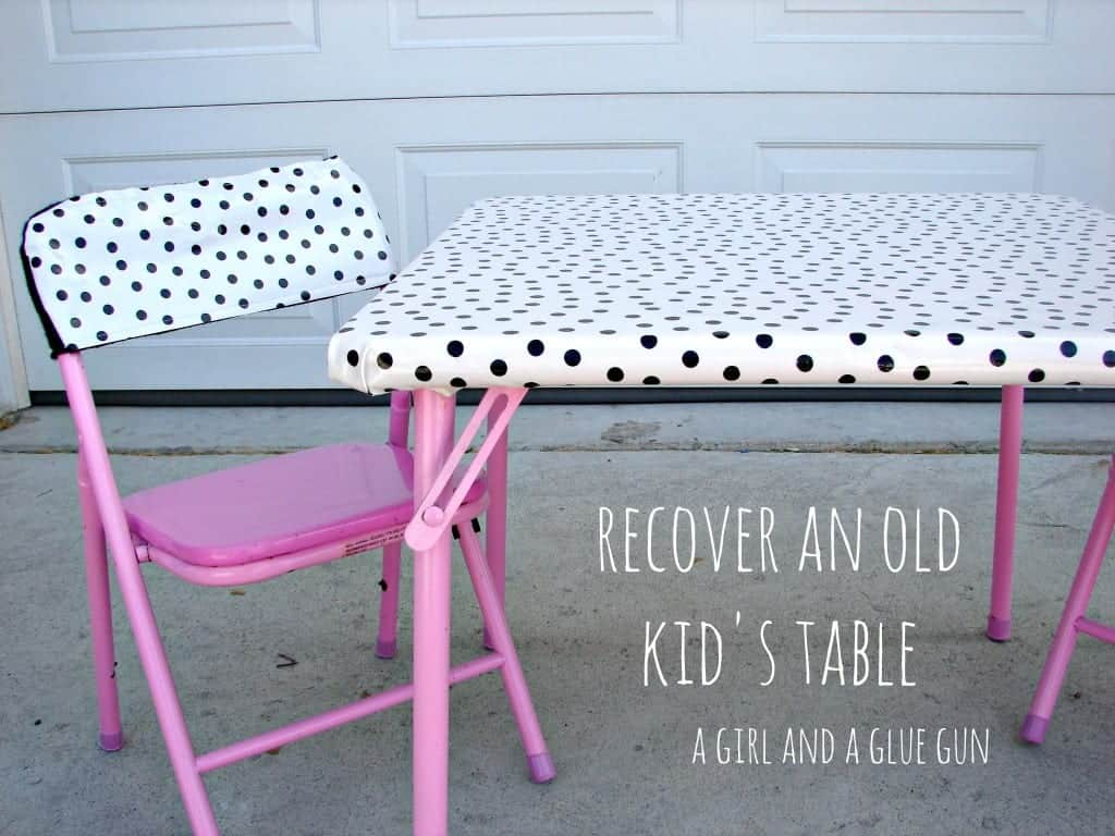 recover an old kids' table