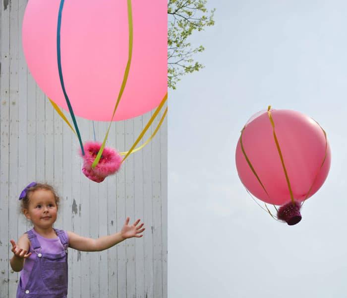 Как сделать воздушный шар с корзиной своими руками маленький